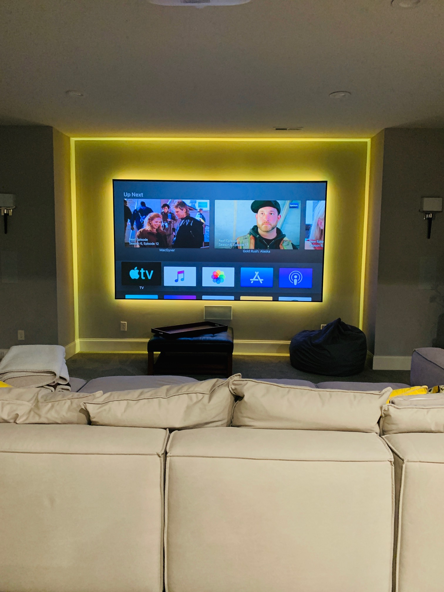 Home Theater Yellow LED
